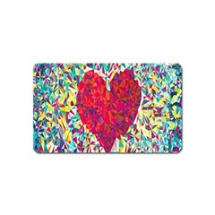Geometric Heart Diamonds Love Valentine Triangle Color Magnet (name Card)