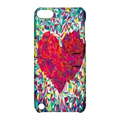 Geometric Heart Diamonds Love Valentine Triangle Color Apple Ipod Touch 5 Hardshell Case With Stand