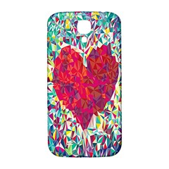 Geometric Heart Diamonds Love Valentine Triangle Color Samsung Galaxy S4 I9500/i9505  Hardshell Back Case