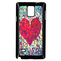 Geometric Heart Diamonds Love Valentine Triangle Color Samsung Galaxy Note 4 Case (black)