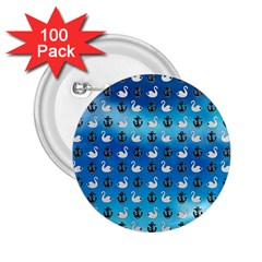 Goose Swan Anchor Blue 2 25  Buttons (100 Pack)