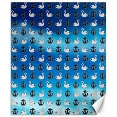 Goose Swan Anchor Blue Canvas 8  X 10