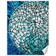 Glass Mosaics Blue Green Canvas 18  X 24