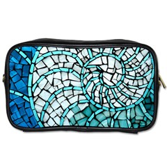 Glass Mosaics Blue Green Toiletries Bags