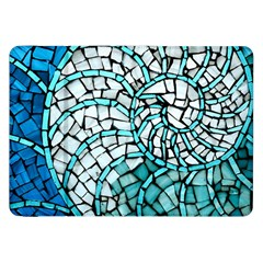 Glass Mosaics Blue Green Samsung Galaxy Tab 8 9  P7300 Flip Case