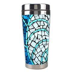 Glass Mosaics Blue Green Stainless Steel Travel Tumblers