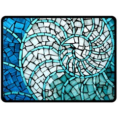 Glass Mosaics Blue Green Double Sided Fleece Blanket (large)