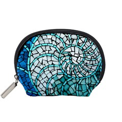 Glass Mosaics Blue Green Accessory Pouches (small)