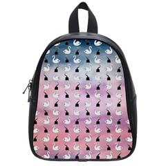 Goose Swan Hook Purple School Bags (small)