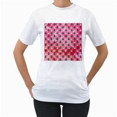 Goose Swan Anchor Pink Women s T Shirt (white) (two Sided)