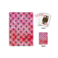 Goose Swan Anchor Pink Playing Cards (mini)