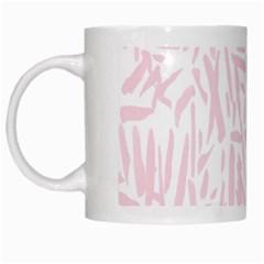 Graffiti Paint Pink White Mugs