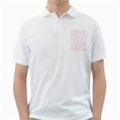 Graffiti Paint Pink Golf Shirts