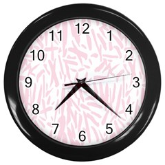 Graffiti Paint Pink Wall Clocks (black)