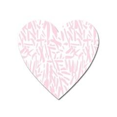 Graffiti Paint Pink Heart Magnet