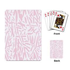 Graffiti Paint Pink Playing Card