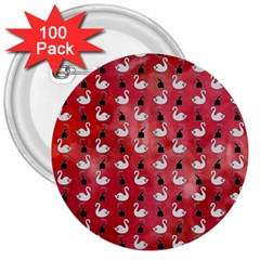 Goose Swan Hook Red 3  Buttons (100 Pack)