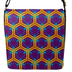 Yellow honeycombs pattern                                                          			Flap Closure Messenger Bag (S)