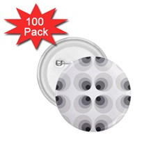Hole Black Eye Grey Circle 1 75  Buttons (100 Pack)
