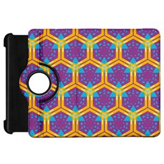 Yellow honeycombs pattern                                                         			Kindle Fire HD Flip 360 Case