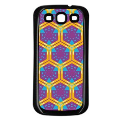 Yellow honeycombs pattern                                                         			Samsung Galaxy S3 Back Case (Black)