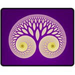 Glynnset Royal Purple Fleece Blanket (Medium)  60 x50 Blanket Front