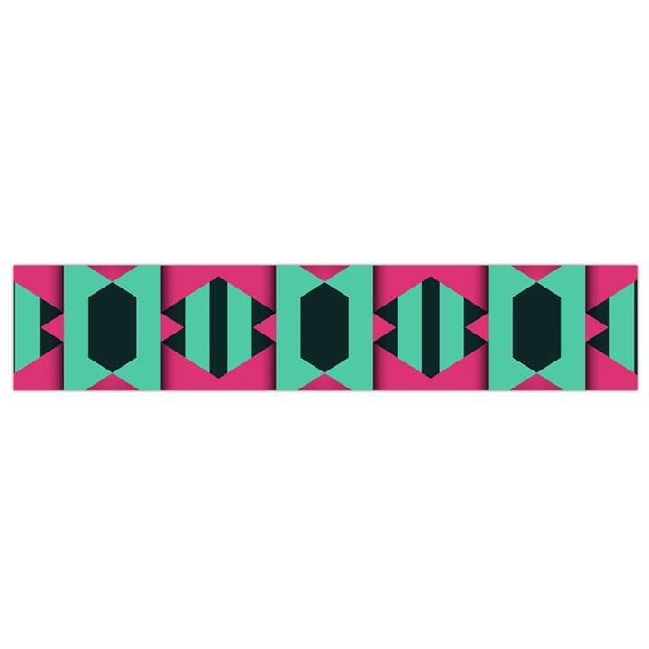 Green pink shapes                                 Flano Scarf