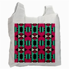 Green pink shapes                                 Recycle Bag