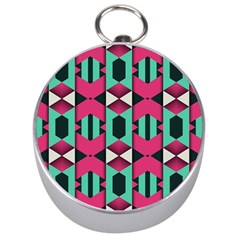 Green Pink Shapes                                 Silver Compass