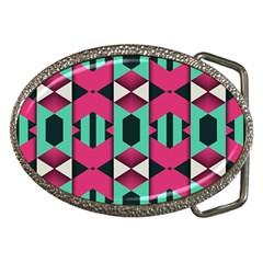 Green pink shapes                                 Belt Buckle