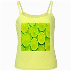 Green Lemon Slices Fruite Yellow Spaghetti Tank