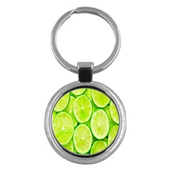 Green Lemon Slices Fruite Key Chains (round)
