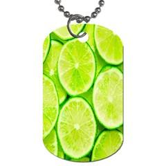 Green Lemon Slices Fruite Dog Tag (Two Sides)