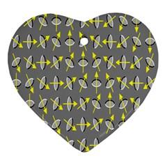 Illusory Motion Of Each Grain Arrow Grey Ornament (heart)