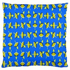 Illusory Motion Of Each Grain Arrow Blue Large Cushion Case (two Sides)