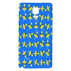 Illusory Motion Of Each Grain Arrow Blue Galaxy Note 4 Back Case