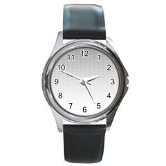 Halftone Simple Dalmatians Black Circle Round Metal Watch