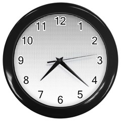 Halftone Simple Dalmatians Black Circle Wall Clocks (black)
