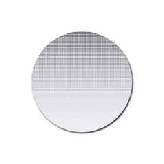 Halftone Simple Dalmatians Black Circle Rubber Coaster (round)