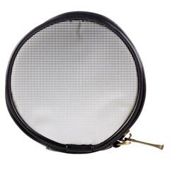 Halftone Simple Dalmatians Black Circle Mini Makeup Bags