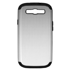 Halftone Simple Dalmatians Black Circle Samsung Galaxy S Iii Hardshell Case (pc+silicone)