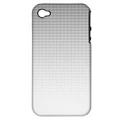 Halftone Simple Dalmatians Black Circle Apple Iphone 4/4s Hardshell Case (pc+silicone)
