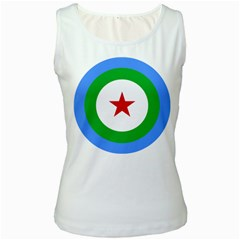 Roundel of Djibouti Air Force  Women s White Tank Top