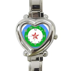 Roundel of Djibouti Air Force  Heart Italian Charm Watch