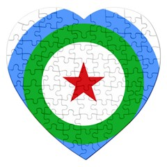 Roundel of Djibouti Air Force  Jigsaw Puzzle (Heart)