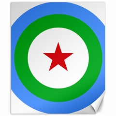 Roundel of Djibouti Air Force  Canvas 8  x 10