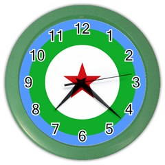 Roundel of Djibouti Air Force  Color Wall Clocks
