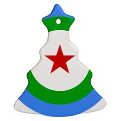 Roundel of Djibouti Air Force  Christmas Tree Ornament (Two Sides)