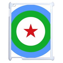 Roundel of Djibouti Air Force  Apple iPad 2 Case (White)