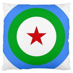 Roundel of Djibouti Air Force  Large Cushion Case (Two Sides)